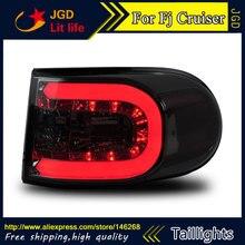 Стайлинга автомобилей задние фонари для Toyota FJ Cruiser 2007-2014 задние фонари светодиодные Задний фонарь задний багажник крышка лампы DRL + сигнала + Тормозная + обратный