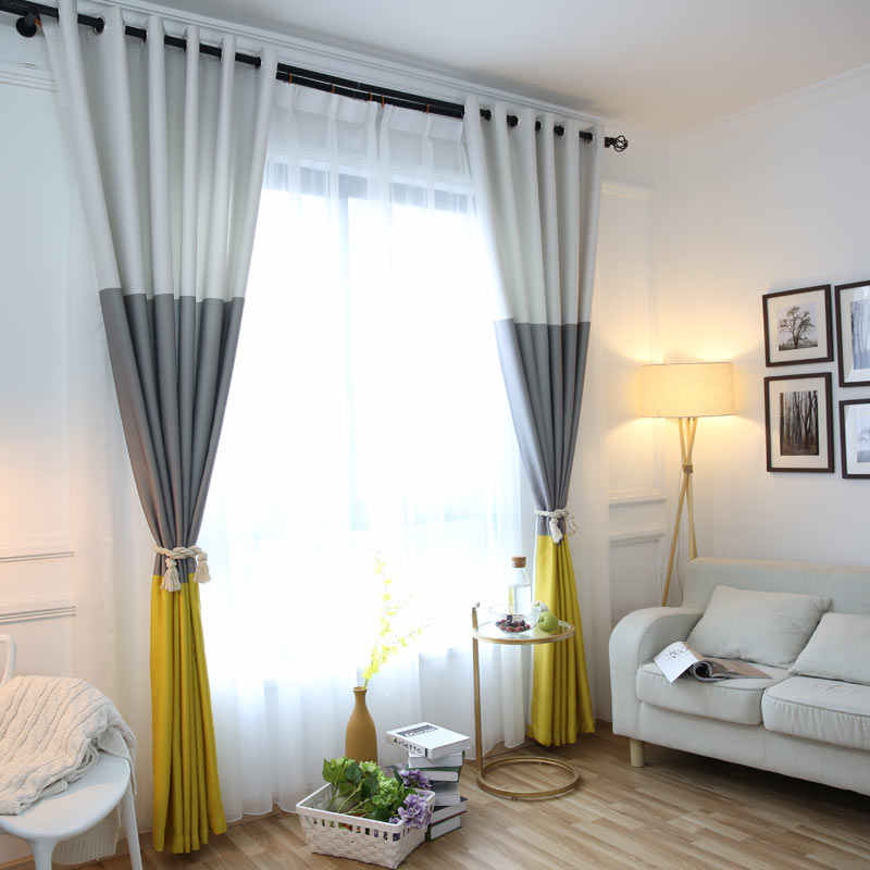 3 Colors Striped Blackout Curtains For The Bedroom Cotton Linen Modern Curtains For Living Room Window Curtains Blinds Curtain Embroidery Curtain Draperiescurtains Livingroom Aliexpress