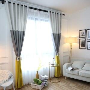 Image 1 - 3 Kleuren Gestreepte Verduisterende Gordijnen Voor De Slaapkamer Katoen Linnen Moderne Gordijnen Voor Woonkamer Gordijnen Blinds