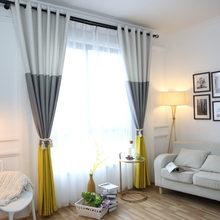 3 couleurs rayé rideaux occultants pour la chambre coton lin rideaux modernes pour salon fenêtre rideaux stores