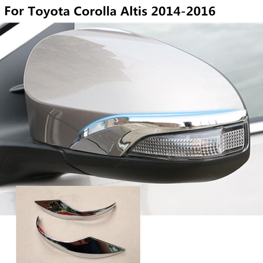 For toyota corolla altis 2014 2015 2016 car abs chrome back rear view rearview side mirror