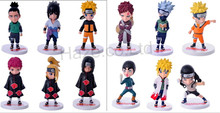 Japanese Anime Naruto Sasuke Figure Cosplay 6pcs