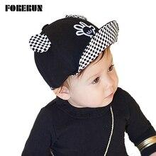 2019 New Baby Hat with Ears Beard Hello Animal Cartoon Kids Baseball Hat Palm Baby Boy Beanies Summer Cotton Caps Girls Visors