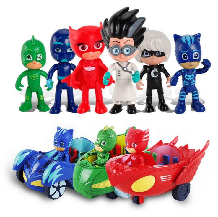 3 шт./лот PJ рисунок Pjmasks Juguete Brinquedo Коннор Catboy Catcar Owlette Сова планер Гекко-mobile автомобиль игрушки для подарки для детей ...