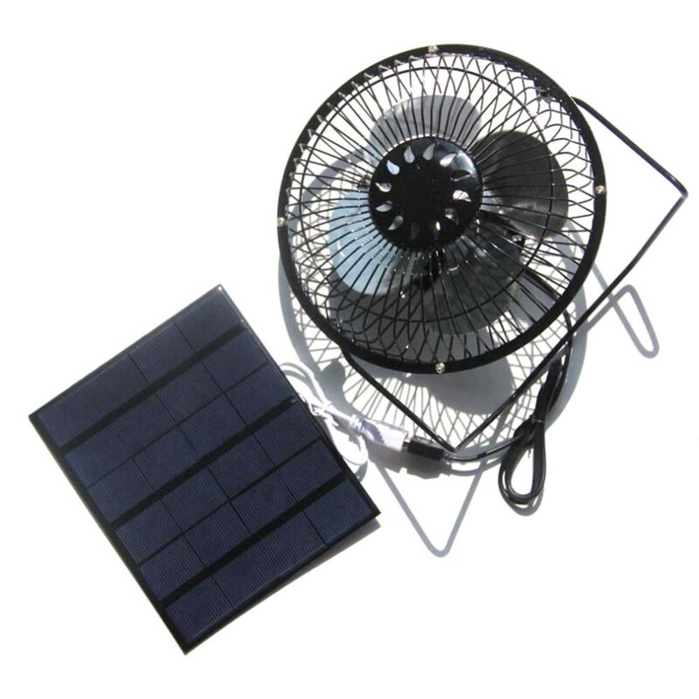 8/6 Inch USB Solar Fan with 2.25W 5V Solar Panel Charging For Phone Power Bank Portable Durable Summer Home Office Cooling Fan 4 in 1 portable exquisite usb mini solar blue fan solar fan super durable energy saving led flashlight lighting charging light
