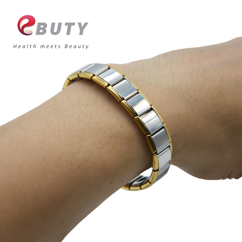 Ebuty Extreme Energy Magnetic Bracelets With 10 Germanium Ball Health Bangles Men Women Fashion Wristband Box 10pcs In Hologram From