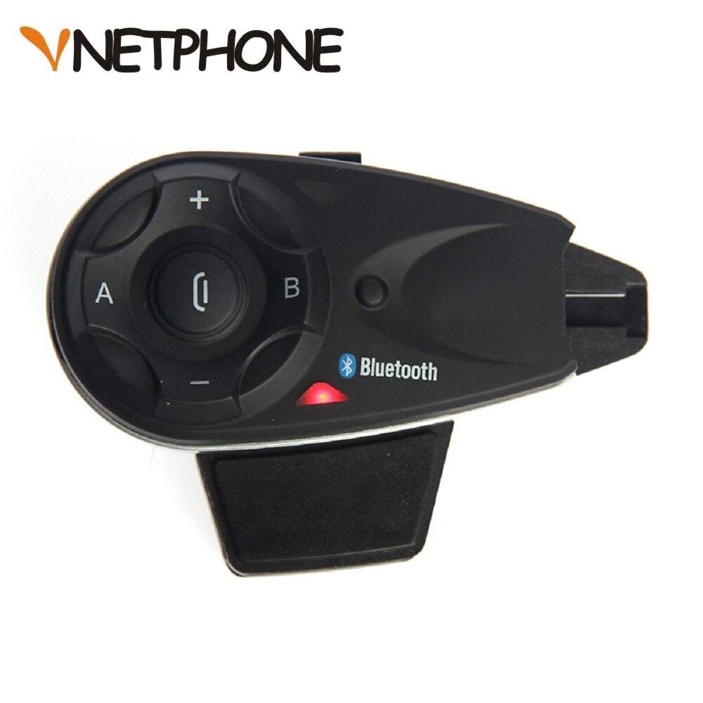 Vnetphone V5 1200 M 5 Riders Moto Bluetooth Citofono del Casco Interphone Auricolare Parlare allo stesso tempo di Connessione Wireless