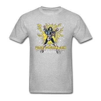 05a56ed62f1 Los hombres de Ace Frehley invasor del espacio camiseta T Shirt de algodón