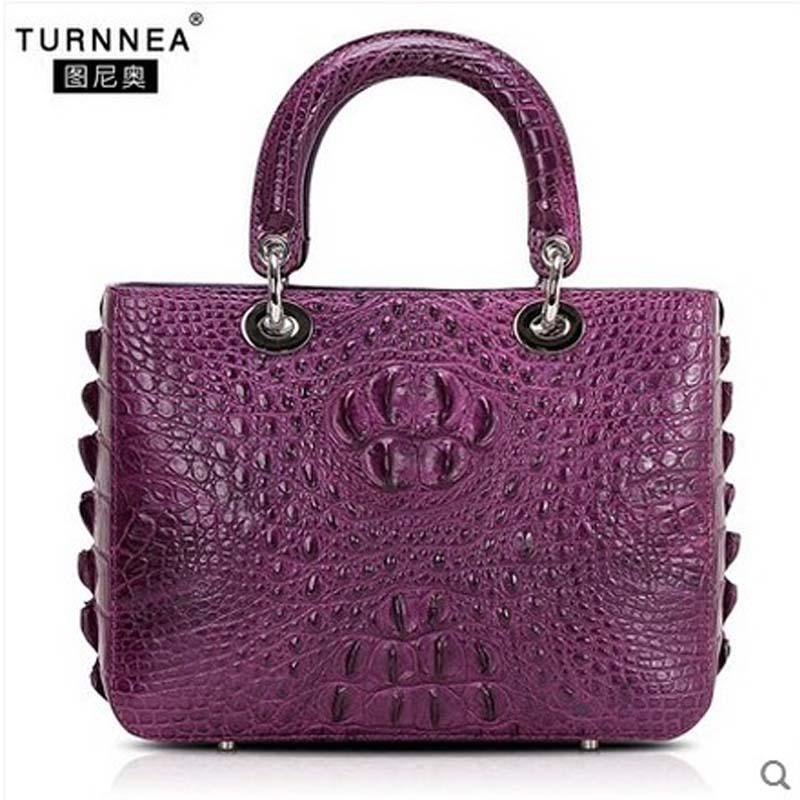 tuniao New imported crocodile skins women Handbag crocodile  leather women bag skins skins dnamic tight