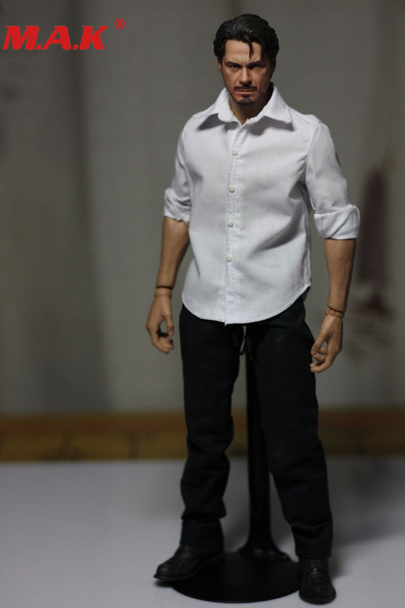 1/6 Scale Toys Man Male Boy Clothing Classic White Shirt Clothes For 12