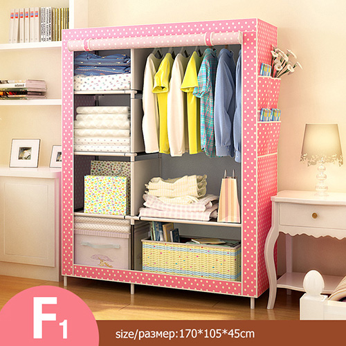 Многоцелевой нетканый Тканевый шкаф для спальни, складной портативный шкаф для хранения одежды, пылезащитный Тканевый шкаф, домашняя мебель - Цвет: HH340600CS4