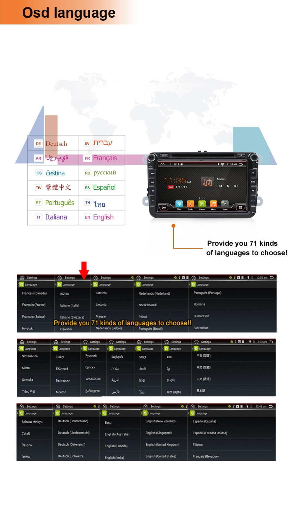 """""""Android GPS voiture 3G 21"""