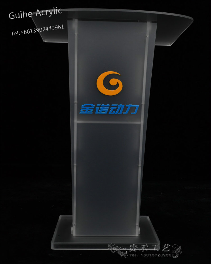 YZ-018-1 Reception Podium Desk Acrylic Podium Pulpit Lectern Table Office Table Speech Podium beautiful price reasonable clean acrylic podium pulpit lectern