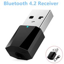 1 USB do komputera Bluetooth 4 2 odbiornik Audio Stereo dla pc MP3 MP4 głośnik słuchawki tanie tanio JETTING 3 5mm CN (pochodzenie) Brak Podwójne Audio adapter