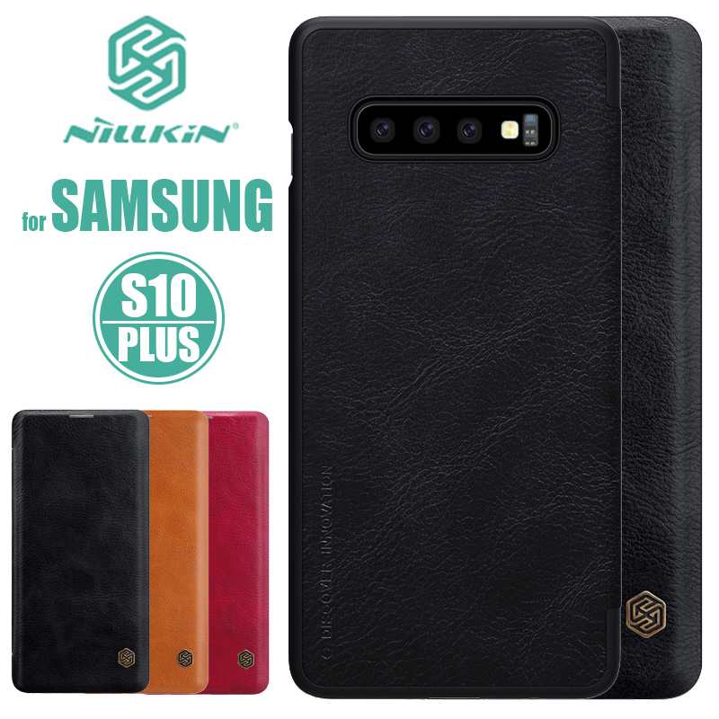 for Samsung <font><b>Galaxy</b></font> S10 <font><b>S9</b></font> S8 Plus S10E <font><b>Case</b></font> Nillkin Business Flip <font><b>Leather</b></font> <font><b>Case</b></font> Phone <font><b>Case</b></font> for Samsung S8 <font><b>S9</b></font> S10 Plus Back Cover image