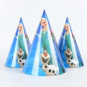 Image 5 - Décoration de fête danniversaire pour enfants, assiettes, gobelets sur le thème des neiges Disney, 83 pièces, fournitures et cadeaux pour 10 personnes