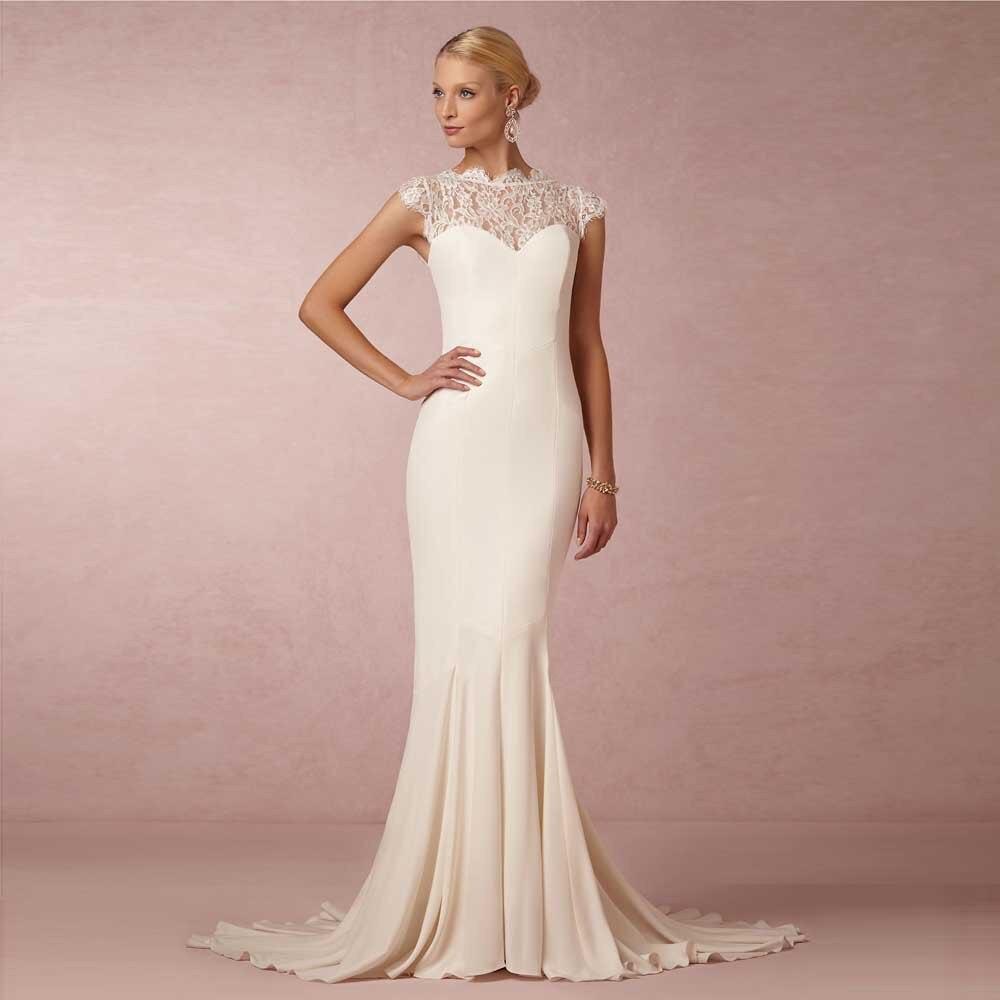 Bonito Vestido De Novia De Encaje Romántico Ideas Ornamento ...