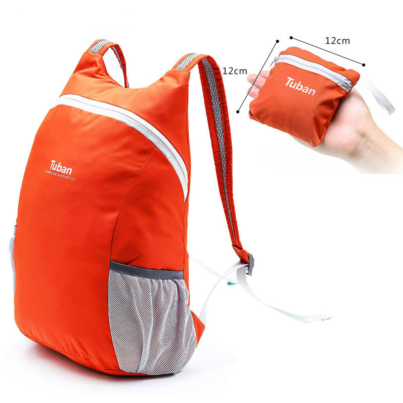 Sports & Entertainment 20l Lightweight Nylon Folding Backpack Waterproof Backpack Collapsible Bag Ultralight Outdoor Pack For Women Men Travel Hiking Handsome Appearance Climbing Bags