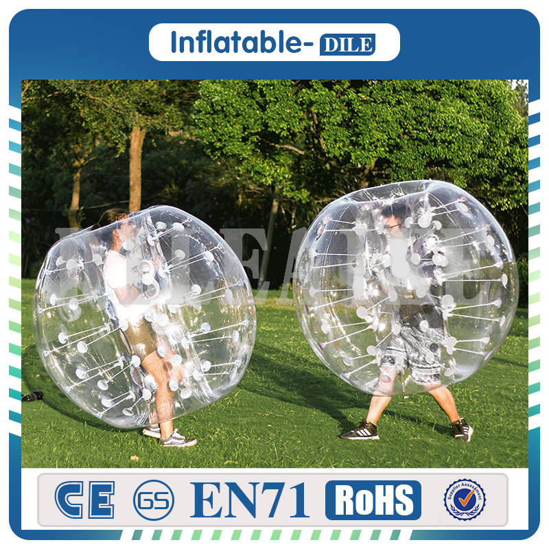 free shipping to door,10pcs balls+1pc air pump,Inflatable Bubbles Soccer,Globe bumper footballs Inflatable Body Bumper