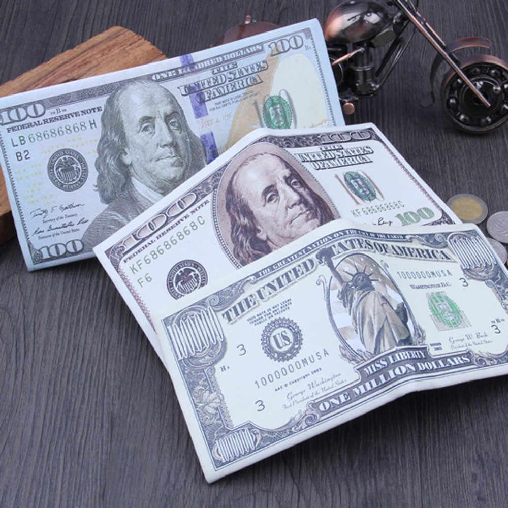 2017 Dólar EUA Projeto de Couro Carteira Clipe Moeda Da Bolsa Da Carteira Titular do Cartão de Crédito de viagem Caminhadas Sacos Tote Bolsas Saco Meninos Mar9A2