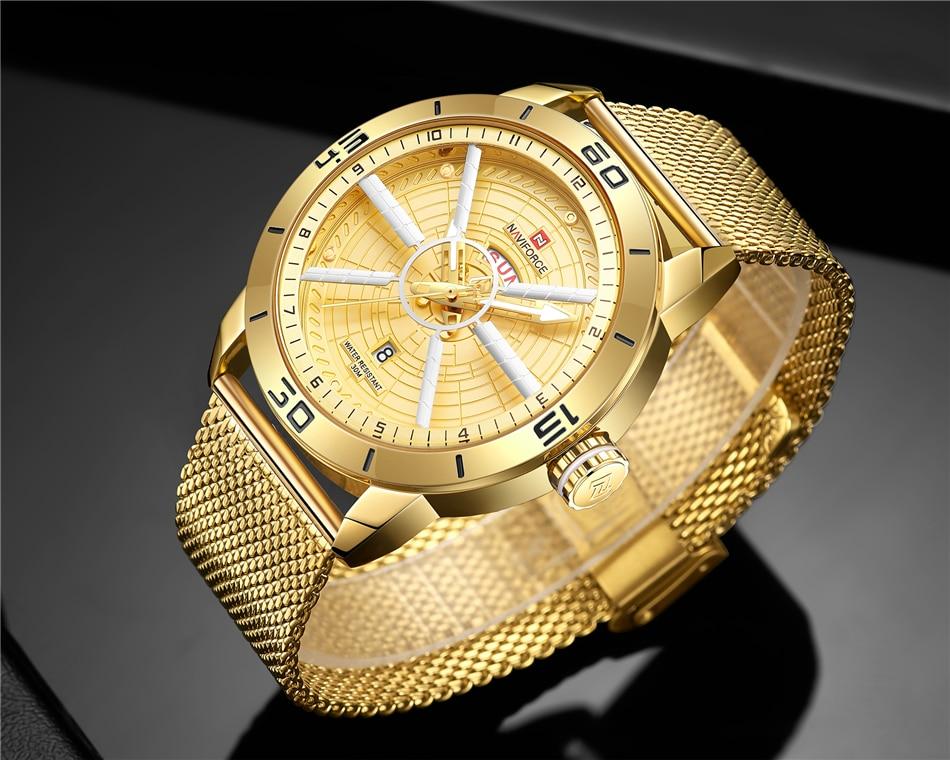 NAVIFORCE Mens Watches Top Brand Luxury Quartz Watch Men Full Steel Men Watch Sport Fashion Business Watches Relogio Masculino 34