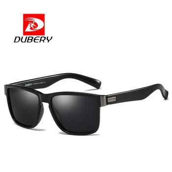 1b02d6a78d DUBERY 2018 Spuare espejo UV400 Marca Diseño polarizadas gafas de sol  hombres conductor tonos hombre Vintage, gafas de sol para hombres, ...