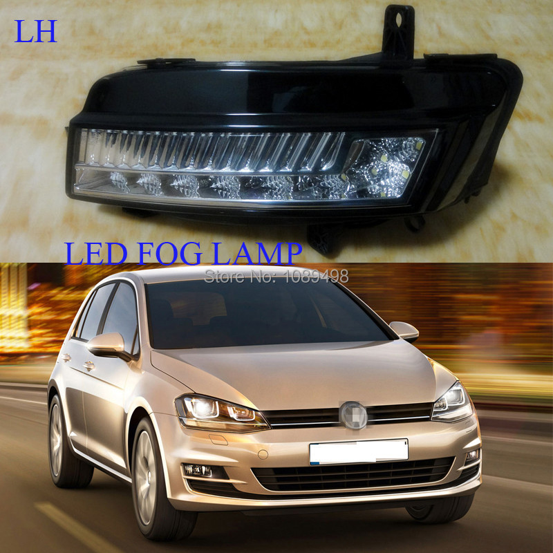 1 Pieces 5GG941661 LH LED bumper fog light front driving fog lamp for VW MK7 Volkswagen Golf VII 7 2014 hot sale abs chromed front behind fog lamp cover 2pcs set car accessories for volkswagen vw tiguan 2010 2011 2012 2013