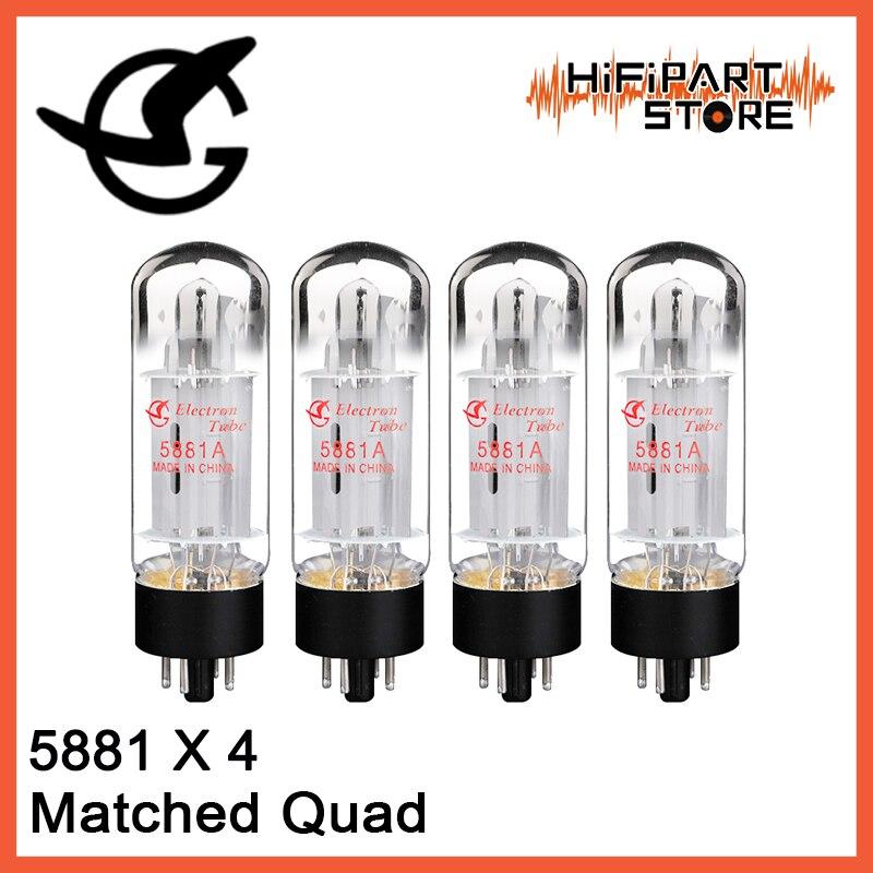 4pcs Shuguang 5881A Valve Matched Quad Tube amplifier accessories Repalce 5881 6L6 6P3P