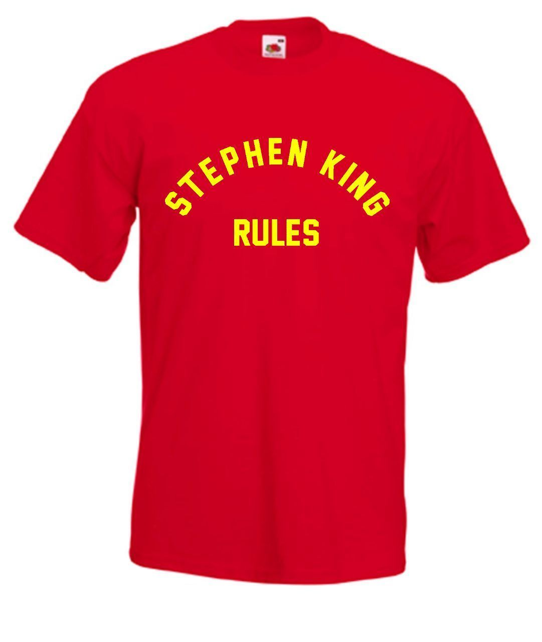 Stephen King Rules Monster Squad 80s Movie T Shirt Summer Men'S fashion Tee,Comfortable t shirt,Casual Short Sleeve TEE