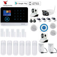 Yobang Security WIFI Home Burglar Security Alarm System Smart Alarm APP Control Voice Prompt Alarm Systems Security Home