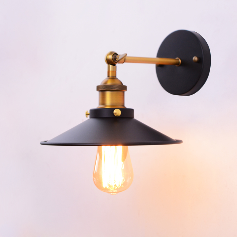 Loft American Retro Vintage ceiling Wall Lamps Painted Iron Wall Lamp 110V-220V Bedside Decoration Lighting Inddor Wall Lights sinfull loft american personality ceiling lights vintage electric fan ceiling lighting e27 bulb lamp bar cafe lamps hot sale