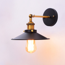 Loft American Retro Vintage Wall Lamps E27 Painted Iron Lamp 110V-220V 40W Antique Industrial Lights Bedside Decor