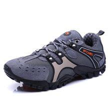 2017 прогулочная обувь Открытый для человек против скольжения мужские треккинговые ботинки противоударный Восхождение Мужская обувь Good Man горных походов кроссовки