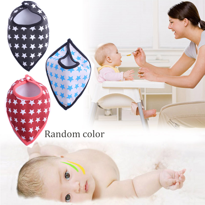 3PCS Triangl Bibs Infants Burp Dribble Bib Bavoir Cotton Baby Bandana Bib Bebes Newborn Saliva Towel Random Color Z193 N