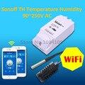 2016 Nueva ITEAD Sonoff TH-Temperatura Y Humedad Control de WiFi Smart Switch Inalámbrico Para El Hogar Inteligente