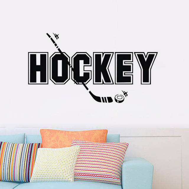High Quality Home Decor Wall Stickers Hockey Sport Kids' Room Decorative Wall Decals Vinyl Art Sticker