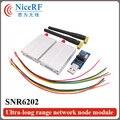2 unids/pack SNR6202 433 MHz Interfaz TTL Módulo de Nodo de Red Inalámbrica Ultra-largo Rrange Uso De Telemetría