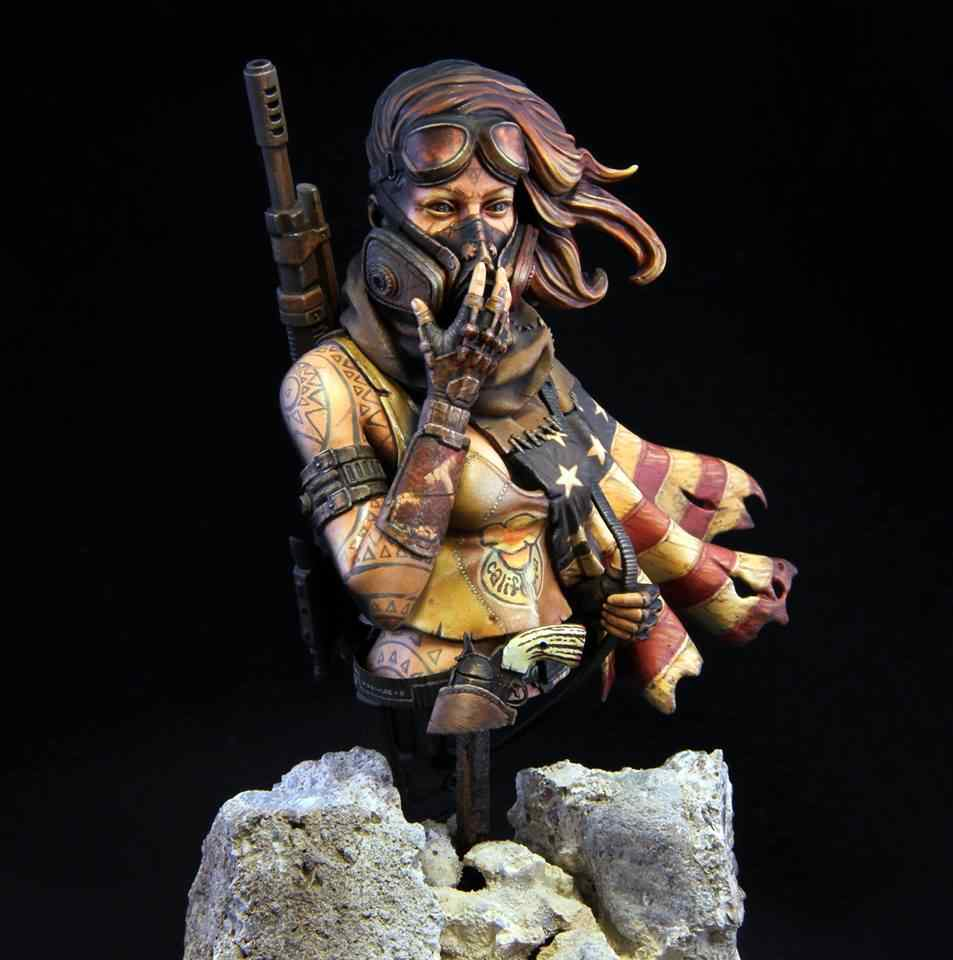 1/10 Red Desert woman soldier with Mask   toy Resin Model Miniature resin figure Unassembly Unpainted