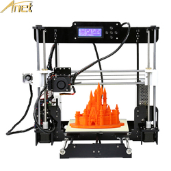Anet A8 Auto-nivel A8 3D impresora de Bluetooth de alta precisión Reprap Prusa I3 FDM 3D de bricolaje impresora 3d con impresora de filamento PLA
