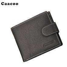 Man echt lederen portemonnee met Credit Card houder of broekzak Brand Design korte portemonnee in Portafoglio geld tas voor bedrijven