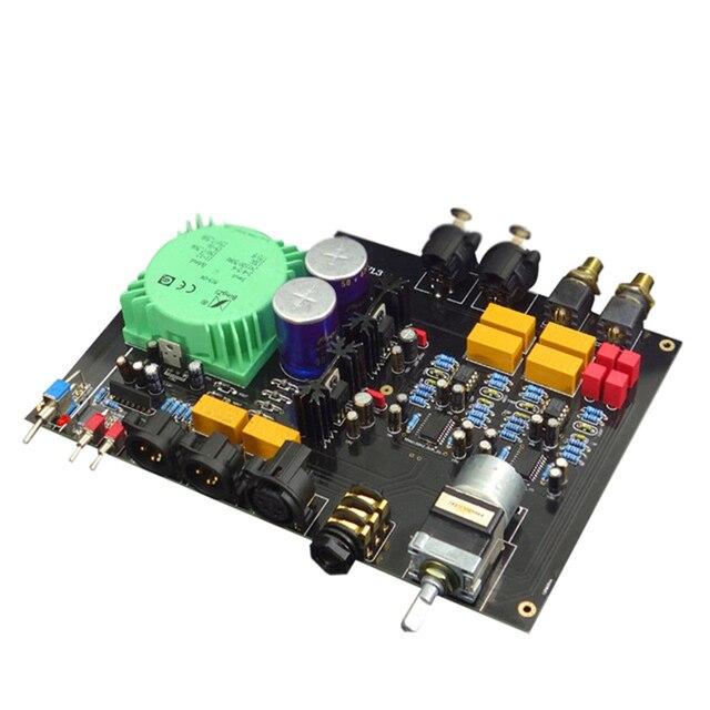 E600 Full Balanced Input Balanced Output Headphone amplifier TPA6120 Ultra low noise JRC5532 Op Amplifier board