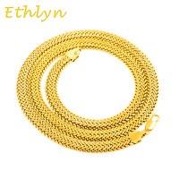 Ethlyn Hiphop Or couleur Chaîne Pour Hommes Bijoux 8mm Large Chaîne Large collier Jewelr hommes Partie Cadeau N009