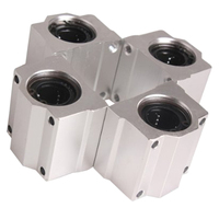 4 Pcs SC20UU 20mm Aluminum Linear Motion Ball Bearing Slide Bushing For CNC