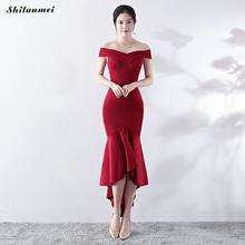 Sexy Off The Shoulder Dress Elegant Women Tube Mermaid Party Dresses Black  Vintage Ruffle Long Clubwear 464d31f4d275