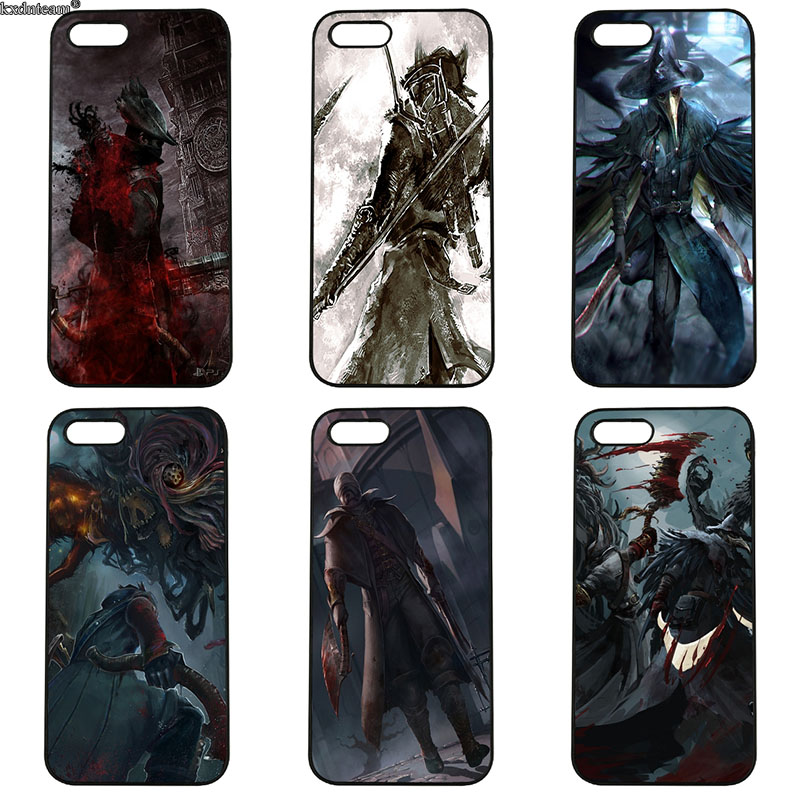 Bloodborne Game Anime Art Cell Phone Case Hard Plastic Cover for iphone 8 7 6 6S Plus X 5S 5C 5 SE 4 4S iPod Touch 4 5 6 Shell