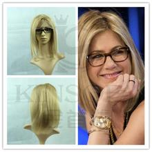 2017 Blonde Lace Front Wig Brazilian Human Hair Virgin Straight Full Wigs With Baby Free Shipping