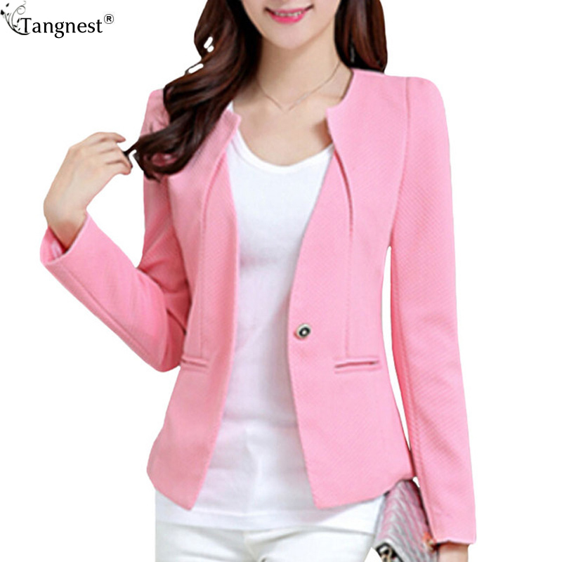 TANGNEST Plus Size Women Formal Short Suit Jacket Coats