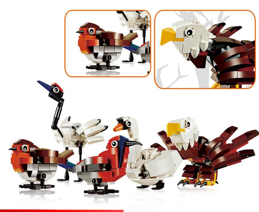 Lepin Birds Set 545Pcs Building Blocks Bricks Toy Boys DIY Educational Bird Family Kids Toys Birthday Gifts 4002014