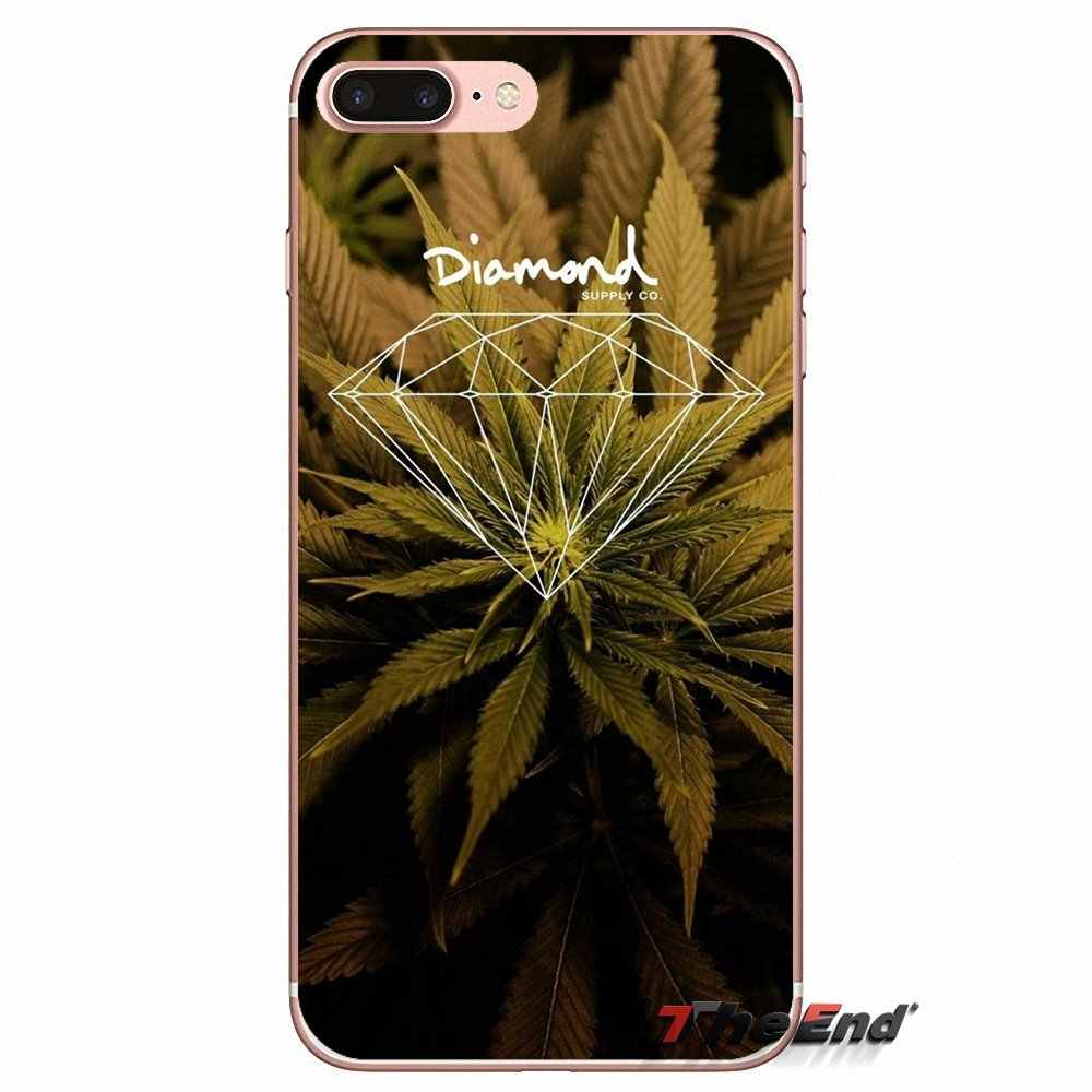 """Для samsung Galaxy S2 S3 S4 S5 мини S6 S7 край S8 S9 Plus Note 2 3 4 5 8 Coque Fundas лист сорняков трава huf Хай """"силиконовый чехол"""