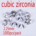 2.25mm White Cubic Zirconia Stone AAA Grade CZ Round Zircon Pedra de Zirconia DIY Beads Supplies for jewelry wholesale